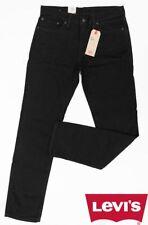 Original Levis 511 Slim Fit Men's Riveted Jeans Jet Black Stretch Denim Gift