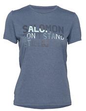 2020 Salomon Women's Comet Classic Tee Running Shirt Dark Denim