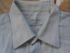 EA0389 van LAACK ROYAL MEY & EDLICH Hemd 45 Hellblau Braun Grau Weiß Gestreift