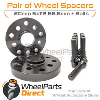 Wheel Spacers (2) & Bolts 20mm for Audi A5 [B9] 16-20 On Aftermarket Wheels