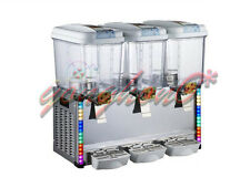 18L*3Tank Commercial Frozen Hot Cold Drink Beverage Milk Juice Dispenser Machine