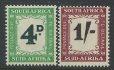 South Africa 1958 4d & 1952 1/  Postage Dues mint o.g.