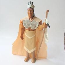 "Vintage Disney Pocahontas Powhatan Vinyl Doll by Applause 11"" 1995 New w/tag"