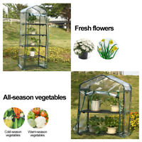 Portable Mini Greenhouse Outdoor Warm Plant Shelves Garden Winter Green House US