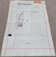 Antique 1894 Vellum Conveyance Indenture - Main Road in Coulsdon - Surrey