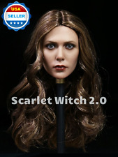 "1/6 Elizabeth Olsen Scarlet Witch Head Sculpt 2.0 for 12"" Phicen body❶USA stock❶"