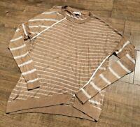 Ladies Maison de Nimes Jumper Designer Top Womens Women Brown Striped UK Medium