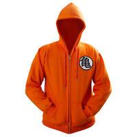 Dragon Ball Z Goku Kame Symbol Cosplay DBZ Zip Hoodie Cosplay Jacket Coat Cotton