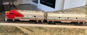 Lot 2 ~ TYCO HO Scale Santa Fe 4015 Locomotives and Train Car