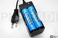 .CHARGEUR RX-77 + 2 PILES ACCU RECHARGEABLE 18650 3.7v 2000mAH BATTERY BATTERIE