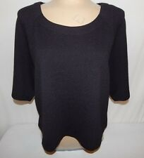 BOBEAU WOMENS SIZE M BLACK BLOUSE TOP BAT WING SLEEVE