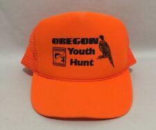 Oregon Youth Hunt Orange Hunting Cobra Caps Snap Back Fish & Wildlife Trucker OS