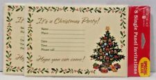 16 Forget Me Not Christmas Holiday Party Invitations Single Panel Christmas Tree