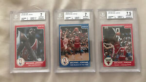 (3) 1984-85 Star Michael Jordan XRC RC (101 BGS 7.5) (288 BGS 7) (195 BGS 7)