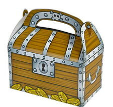 12 PIRATE TREASURE CHEST PARTY TREAT BOXES FAVORS GOODY BAGS CARNIVAL PRIZE