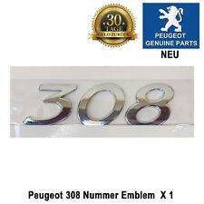 Peugeot 308 Nummer Emblem Plakette Logo Heckklappe 8665VG Neuf 308 CC SW