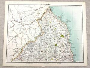 Cheviot Hills Berwick Alnwick Blyth 1898 map Kielder Forest NORTHUMBERLAND