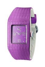 Puma Watch Futuristic Vega Purple Plastic Purple Analog Quartz 4244923