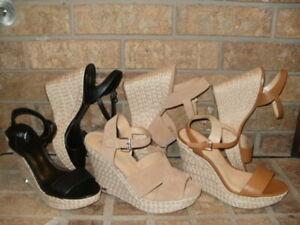 Michael Kors Jill Espadrille Wedge Sandal/Pick Acorn Black or Beige(Suede)SR$110