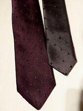 Paul Smith Smart Diseñador manchado Púrpura Corbata Seda Tejida Slim 100% (6CM)