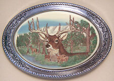 Belt Buckle Barlow Photo Reproduction in Color Deer Portriat Silver 592696c NEW
