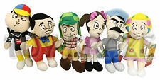 "EL CHAVO DEL OCHO PLUSH SET! 6 PC SMALL SOFT STUFFED DOLLS TOY 6"" NWT"