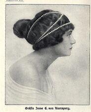 Die anerkannt schönsten Frauen von Wien: Gräfin Irene E.von Auersperg 1914