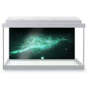 Fish Tank Background 90x45cm - Awesome Green Nebula Star SciFi  #13145
