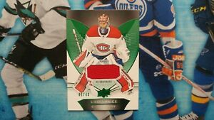 Carey Price 2018-19 Upper Deck Trilogy Green (#d 31/40) Jersey card #29