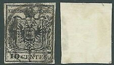 1850 LOMBARDO VENETO USATO STEMMA 10 CENT - A122-2
