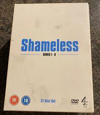 Shameless TV Series 21 Disc DVD Boxed Set Series 1-6 Cert 18 VGC