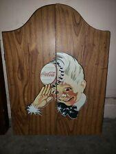 Coca Cola Original Dart Board!! Rare!! Original Logo Collectors!!