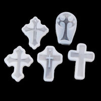 5PCS Cross Silicone Resin Mold For Jewelry Making Casting Mould Craft DIY Tools