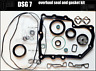 0AM,DSG7,DQ200,Gearbox overhaul,set kit of seal and gasket,OHK kit,set,pack