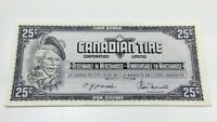 1974 Canadian Tire 25 Cents CTC-S4-D-WN Uncirculated Money Banknote D142