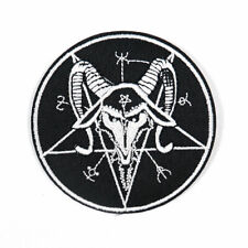 Pentagram Evil Satanic Goat Patches Iron on Sewing Applique DIY Patchwork Occult