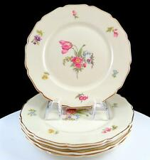 """ROSENTHAL CONTINENTAL IVORY GERMANY 5 PIECE FLORAL 6"""" BREAD & BUTTER PLATES"""