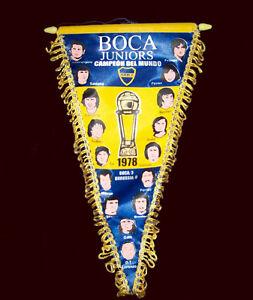 SOCCER BOCA JUNIORS WORLD CHAMPION 1978 PENNANT Replica