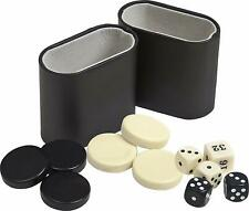 Backgammon Checkers Accessories Kit 1 Inches Black and Ivory