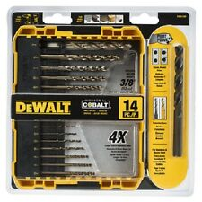 Dewalt, 14 Piece, Pilot Point, Industrial Grade, Cobalt, Drill Bit Set