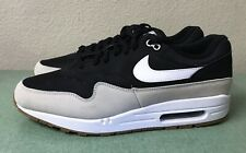 Nike Air Max 1 Black Light Bone White Gum Mens Sz 12 Running Shoes 90 95 NEW!!!