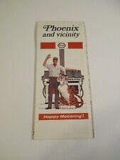Vintage Enco 1970 Phoenix Arizona Oil Gas Station City Street Road Map~Box M