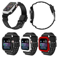 Shockproof iWatch Band with Rugged Bumper for Apple Watch Series 4 40MM 44MM