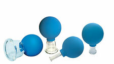 Set of 4 Vacuum Cups for facial massage Cupping-Glass Skincare Best Cup