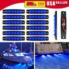 12 Pcs Marine Boat Led Cabin Deck Courtesy Lights Blue Stern Transom Light
