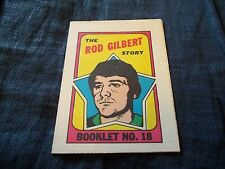 1971-72 OPC O-Pee-Chee Booklet #18 Rod Gilbert New York Rangers - nrmt