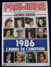 """PREMIÈRE CINÉMA  - """"1986 l'année de l'émotion"""" - HS n°1 de 1986"""