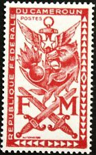CAMEROUN KAMERUN 1963 Militärmarke 1 M1 Zulassungsmarke Military stamps MNH