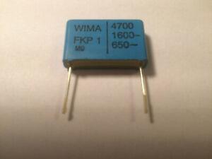 2 Kondensatoren Wima FKP1, FKP 1, 4700pF, 1600V, RM22