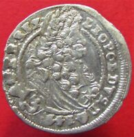 Silver Medieval Coin Austria-Hungary Leopold I. 3 kreuzer 1699